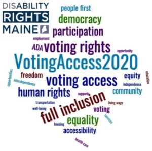Voting Access 2020 Collage - Link to register